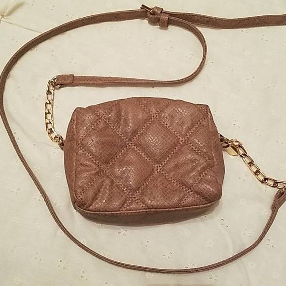 a1bc6f7124db Deux Lux Bags   Quilted Faux Leather Mini Crossbody Euc   Poshmark